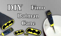 FIMO Batman Cane: Polymer Spoon - Tutorial [HD/DE] (EN-Sub)