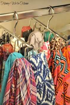 Honey We're Home | How to keep scarves organised without having to fold and wrinkle them