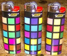 Amazon.com : Lot of 3 Bic Mosaic Art Deco Design Full Sized Lighters Limited : Sports & Outdoors
