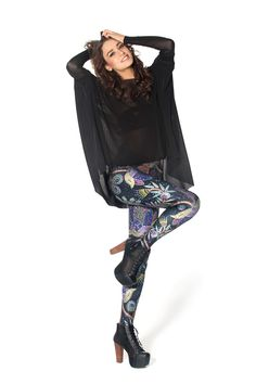 WANT Not Actually Sequin Leggings by Black Milk Clothing