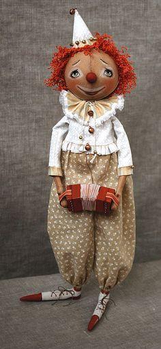 Collectible dolls handmade.  Fair Masters - handmade clown Daniel.  Handmade.