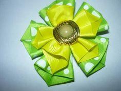 Manualidades y accesorios la hormiga. como hacer una flor en cintas.HAIR ACCESSORIES video No.054 - YouTube