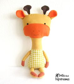 Dolly Donations: Giraffe Softie Stuffed Toy PDF Sewing Pattern ...