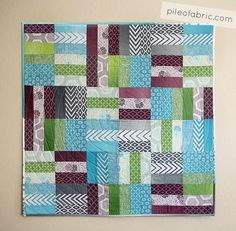 ~ free pattern ~ Jelly Roll Jam by the Fat Quarter seen at Pile O Fabric