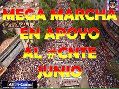 Mega Marcha apoyo CNTE Junio