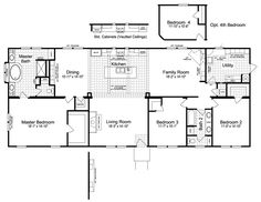 Love every inch of The Sonora II FT32763B Home Floor Plan - 2,356 Sq. Ft., 3 Bedrooms, 2 Baths -  Floor Plan  for manufactured or Modular Floor Plans available from Palm Harbor Hoems