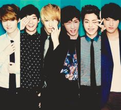 Exo m I just realized they all have one eye either closed or covered. cleaver... very cleaver.