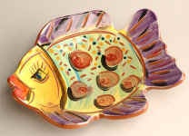 Clay project with 3rd?  Use fish stencil and form into small plate