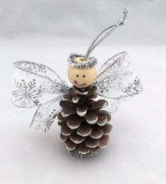Ready to Ship Angel Pine Cone Ornament by SilverMoonBathandSpaAdorable with pitch pine cones Pine Cone Christmas Decorations, Pinecone Ornaments, Christmas Ornament Crafts, Angel Ornaments, Christmas Crafts For Kids, Christmas Angels, Christmas Projects, Holiday Crafts, Christmas Diy