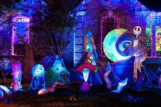 Nightmare Before Christmas Halloween Lights ...you could leave up until after Christmas too!