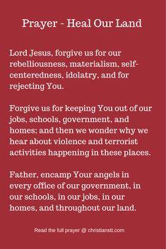Prayer - Heal Our Land