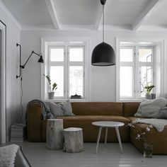 🎶WEEKEND🎶 Good morning lovelies, hope you'll enjoy your Friday🖤 I'm planning to spend some time here on the couch tonight; TV and tacos comin' up later🙌🏽☕️🍂 Any plans for the weekend? Norwegian House, Couch, Living Room Interior, Living Rooms, Some Times, Own Home, Hanging Chair, Dining Bench, Home And Garden