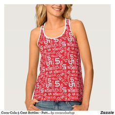 0bd96a7c12154a Coca-Cola 5 Cent Bottles - Pattern Tank Top Coca Cola Gifts