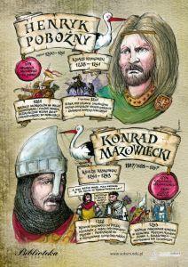 Konrad I Mazowiecki i Henryk i Pobożny Learn Polish, Poland History, Polish Language, Visit Poland, E Mc2, Alter, Education, Bullet Journal, Study