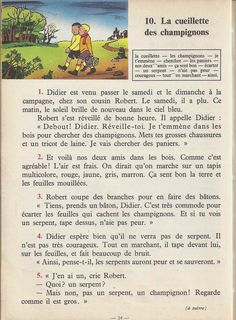 Manuels anciens: Tranchart, Levert, Rognoni, Bien lire et comprendre Cours élémentaire (1963) : grandes images French Learning Books, Teaching French, French Language Lessons, French Lessons, French Phrases, French Words, Learn French Fast, French Worksheets, English Story