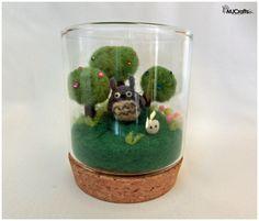 Needle felting terrarium inspired by Totoro  https://www.etsy.com/es/listing/220952001/terrarium-totoro?ref=shop_home_active_1
