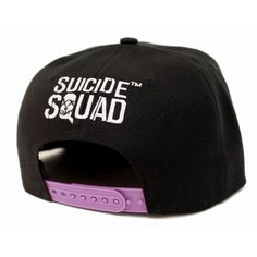 Suicide Squad Baseball Cap Joker Face skull DC Comics Black Snapback - Paradiso…