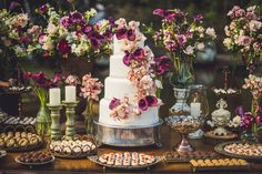 New wedding cakes table decorations dessert buffet ideas Sweet Table Wedding, Elegant Wedding Cakes, Sweet Tables, Wedding Groom, Fall Wedding, Dream Wedding, Wedding Gowns, Wedding Venues, Wedding Rings