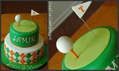 golf cake- Can't decide what theme to do for Ethan's b-day this year. Golf or Baseball? Beautiful Cakes, Amazing Cakes, Cakes For Men, Cute Cakes, Creative Cakes, Fondant Cakes, Cake Creations, Celebration Cakes, Cupcake Cookies