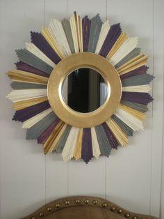 Elegant multi-colored sunburst mirror. $150.00, via Etsy.
