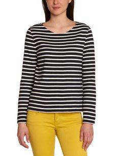 Pull, T Shirt, Amazon Fr, Tops, Women, Fashion, Stripes, Round Collar, Long Dress Patterns