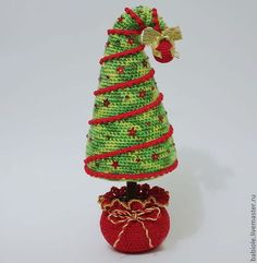 Вязаные ёлочки - ёлочка,ёлка,елки,елка новогодняя,елка вязанная,вязаная ёлка