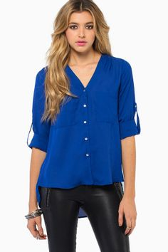 Shoreside Blouse now available in blue!