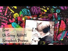 Soar | UK Scrap Addicts | Scrapbook Process - YouTube Craft Supplies, Addiction, Scrapbooking, Thankful, Crafty, Make It Yourself, Videos, Youtube, Instagram