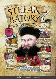 Stefan Batory - Poczet królów polskich - PlanszeDydaktyczne.pl Poland History, Polish Language, Visit Poland, European Languages, Poland Travel, E Mc2, Ancient History, Crafts For Kids, Culture
