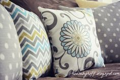 Use the Rule of Three as a foolproof way to mix and match throw pillow patterns and colors like a pro.