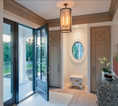 I love this entry. It's clean, simple and elegant.. nice window too and black trim door.. ooh.. entryway #entryway Entryway