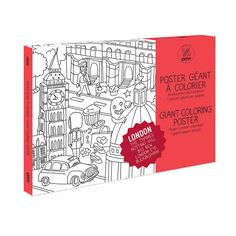 London Giant Coloring Poster: Discover London coloring Big Ben, London Eye, The Thames and other classic and not so classic landmarks. Filled with surprises and funny details, this coloring poster will provide hours of fun.
