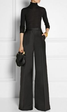 A guide to buying wide leg pants wide leg pants antonio berardi Cargo Joggers Womens, Boys Jogger Pants, Business Outfit Frau, Business Attire, Antonio Berardi, Work Fashion, Fashion Outfits, Womens Fashion, Fashion Weeks
