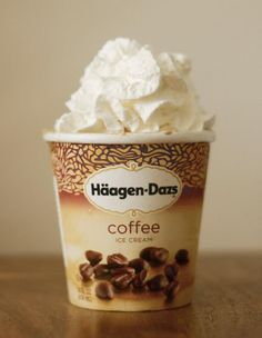 Cool down with our rich and bold Coffee ice cream topped with whipped cream.