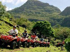 Mountain quad biking in Mauritius Island!
