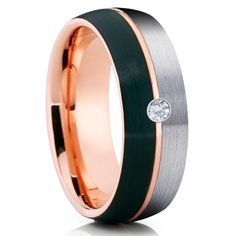 Check this rose gold morganite engagement ring. Designed in striking detail, the band features an art deco motif with a variety of side natural diamonds. A large focal natural morganite sits atop in all its splendid glory. This is a rose gold enga Black Tungsten Rings, White Diamond Ring, Stainless Steel Rings, Carat Gold, 18k Gold, Black Rings, Rings For Men, Wedding Rings, Wedding Band