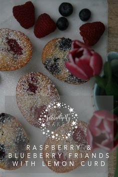 These beautiful friands are so simple to make and best enjoyed warm from the oven. Raspberries and blueberries are our favourite fruits for these little cakes, especially with an injection of lemon curd. Stunningly delicious ad so simple to make. You can have them in the oven in 5-10 minutes