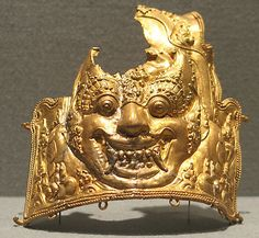 Section of an Armband with Kala Motif, Eastern Javanese period, early 9th-14th century, Indonesia, gold