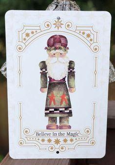 Nutcracker Holiday Metal Sign - Christmas Sign, Old World Christmas Decor, Christmas Mantle Decor, Traditional Christmas Decor, Farmhouse Holiday Decor, Old World Holiday Decor, Christmas Decorations, Christmas Gift Idea, Nutcracker Decor, Christmas Signs #ad