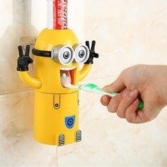 Toothpaste Dispenser Minion Toothpaste Dispenser Minion themed automatic kids toothpaste dispenser to make brushing teeth interesting and fun fo.
