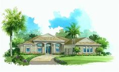 Lennar Homes The Verandah at Arlington Oaks Fort Myers FL - Elevation 'C'