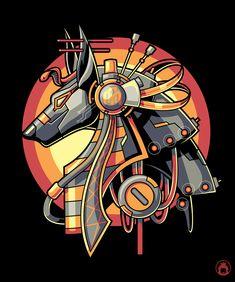 Anubis by anggatantama Egyptian Mythology, Egyptian Symbols, Egyptian Anubis, Ancient Art, Ancient Egypt, Anubis Drawing, Anubis And Horus, Character Art, Character Design