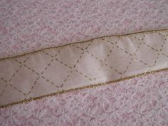 This listing is for 3 Yards of Favor Ribbon.   Color: Ivory and Gold  Size: Approximately 2 wide   Fillable Ribbon, may be used for party favors