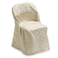 Ashbury Scroll Folding Chair Cover - BedBathandBeyond.com
