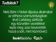 Niels Bohr-t Nobel díjazása alkalmából az otthona szomszédságában lévő Carlsberg sörfőzde egy közvetlen vezetékkel lepte meg: azaz bevezették hozzá a sört, mint közművet. Fun Facts, Funny Memes, Humor, Tips, Quotes, Alternative, Quotations, Humour, Funny Photos