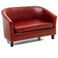 Roberto Red Double Tub Sofa- Furniture By Sabichi