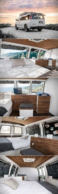 Filmmaker Transforms Cargo Van Into a Modern Living Space and Studio