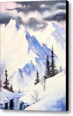 Winter Serenity Canvas Print / Canvas Art By Teresa Ascone