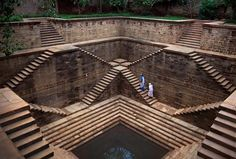 I recently stumbled upon a photo of what looked like a reverse temple and had to investigate. It was a stepwell. A stepwell is exactly what it sounds like: steps down to a well. The earliest stepwells date back to about 550 AD and were developed in India as a necessity for areas suffering from