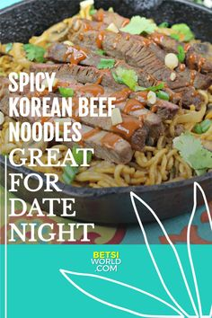 Spicy Korean beef with noodles is one of those dishes that remains enjoyable time after time. The beef is always super flavorful and tender, add in the noodles and you've got the ultimate comfort food. #recipe #koreanbeef #beefandnoodles